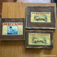Juegos construcción - Meccano: 3 CAJAS DE MECCANO MAS 2 LIBROS DE INSTRUCCIONES - VER FOTOS. Lote 271952843