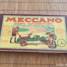 Jeux construction - Meccano: MECCANO, EQUIPO SUPLEMENTARIO 1A. Lote 286807548