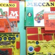 Juegos construcción - Meccano: JUGUETE MECCANO 1 Y MECCANO 4 CON MANUAL DE INSTRUCCIONES.MADE IN ENGLAND. Lote 294377403