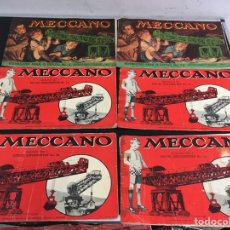 Juegos construcción - Meccano: 6 CATÁLOGOS MECCANO VINTAGE. Lote 295394023