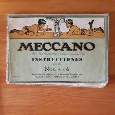 Juegos construcción - Meccano: MECCANO / MECANO - ISTRUCCIONES - NOS. 4 A 6. Lote 295427088
