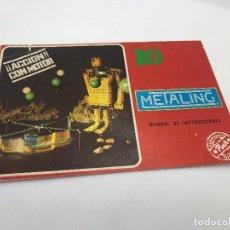 Juegos construcción - Meccano: METALING POCH - MANUAL DE INSTRUCCIONES Nº 10 - MECCANO. Lote 296007378