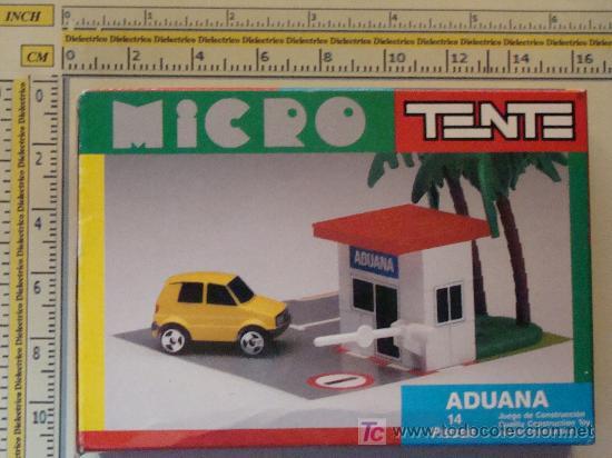 Juegos construcción - Tente: MICRO TENTE. ADUANA. PRECINTADO. CON CAJA. INSTRUCCIONES. PEGATINAS. - Foto 2 - 8509394