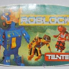 Juegos construcción - Tente: PEGATINA TENTE ROBLOCK EXIN. Lote 26635829