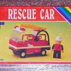Juegos construcción - Tente: COCHE BOMBEROS RESCUE CAR JUEGO CONSTRUCCION SIMILAR TENTE LEGO. Lote 27134523