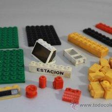 Juegos construcción - Tente: RESTOS TENTE RUTA 0691 ESTACIÓN DE ENGRASE Y CAMIÓN GRÚA, EXIN 1977. Lote 31730601