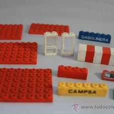 Juegos construcción - Tente: RESTOS TENTE RUTA 0692 GASOLINERA Y CAMIÓN CISTERNA, EXIN 1977. Lote 31730627