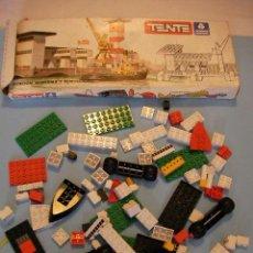 Juegos construcción - Tente: GRAN LOTE TENTE PIEZAS ANTIGUAS Y CAJA. Lote 37367006
