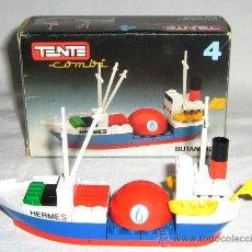Juegos construcción - Tente: TENTE EXIN. MAR. COMBI 4. BUTANERO. BARCO HERMES. AÑOS 70 - 80 CON CAJA Y PLANO PARA MONTAR. Lote 37559292