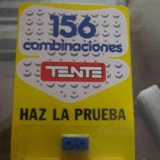 Juegos construcción - Tente: PUBLICIDAD DE TENTE UNICA BLISTER CON 156 COMBINACIONES CON DOS PIEZAS HAZ LA PRUEBA PIEZA RARA!. Lote 165877246