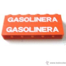 Juegos construcción - Tente: TENTE JUEGO DE BLOQUES CON SEÑALETICA - GASOLINERA. COLOR ROJO. Lote 40499386