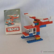 Juegos construcción - Tente: HELICOPTERO TENTE MINI REF 512 CON INSTRUCCIONES AÑO 1972. Lote 43119709