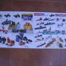 Juegos construcción - Tente: CATALOGO ANTIGUO PLEGABLE DE TENTE , ORIGINAL .. Lote 46188006