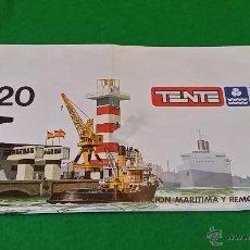 Juegos construcción - Tente: INSTRUCCIONES DE TENTE 0620 ESTACION MARITIMA Y REMOLCADOR. Lote 50810084