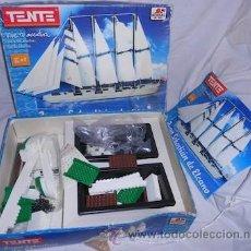 Juegos construcción - Tente: TENTE DE BORRAS, JUAN SEBASTIAN DE ELCANO, LE FALTAN 6 PIEZAS. Lote 54153026