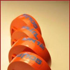 Juegos construcción - Tente: TENTE - CABINAS ESFERICAS COSMIC PARTE INFERIOR ROJO CON ADHESIVOS X4. Lote 57932268