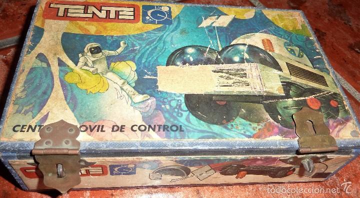 CAJA CARTON PRENSADO REMACHES DE CERRADURA TENTE ASTRO CENTRO MOVIL DE CONTROL REF 0651 . (Juguetes - Construcción - Tente)