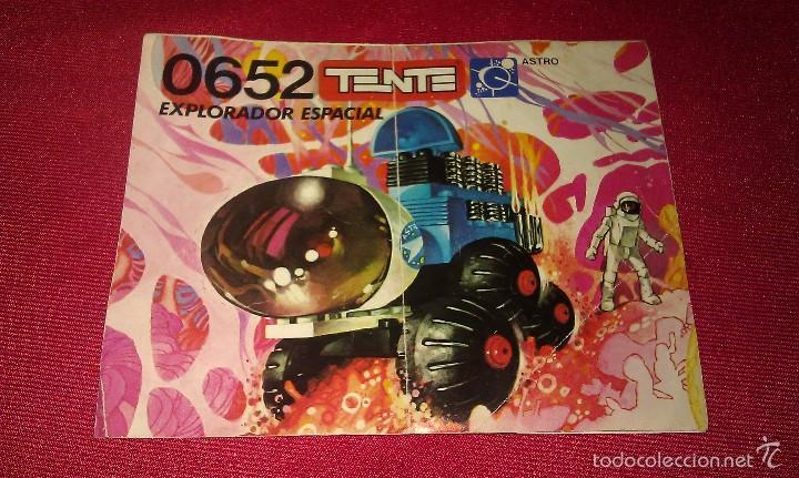 Juegos construcción - Tente: VEHÍCULO EXPLORADOR ESPACIAL DE TENTE EXIN SERIE ASTRO REF. 0652 CON SUS INSTRUCCIONES ORIGINALES - Foto 8 - 59944527