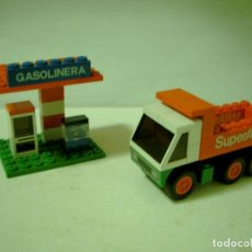 Juegos construcción - Tente: LOTE TENTE EXIN SERIE RUTA GASOLINERA Y CAMION VOLQUETE.. Lote 67669093