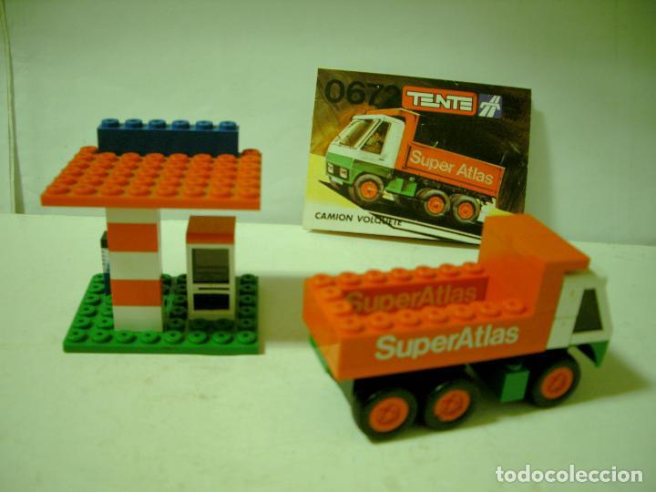 Juegos construcción - Tente: LOTE TENTE EXIN SERIE RUTA GASOLINERA Y CAMION VOLQUETE. - Foto 2 - 67669093