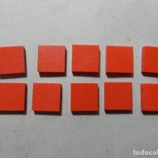 Juegos construcción - Tente: TENTE 2X2 PLANA LISA ROJA 10 UNIDADES. Lote 177745532
