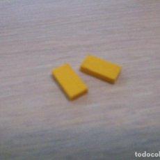 Juegos construcción - Tente: TENTE PLACA LISA BALDOSA AMARILLO 1X2 X2 PIEZAS CJ4. Lote 133714603