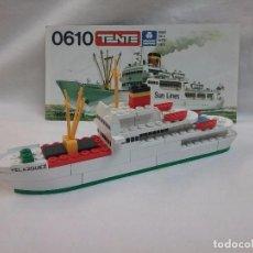 Juegos construcción - Tente: TENTE - MOTONAVE BARCO VELAZQUEZ - REFERENCIA 0610 TENTE DE EXIN . Lote 76027207