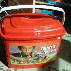 Juegos construcción - Tente: CUBO CAJA TENTE EXIN CON PIEZAS TENTE AÑO 1990 REF. 0416. Lote 79017709