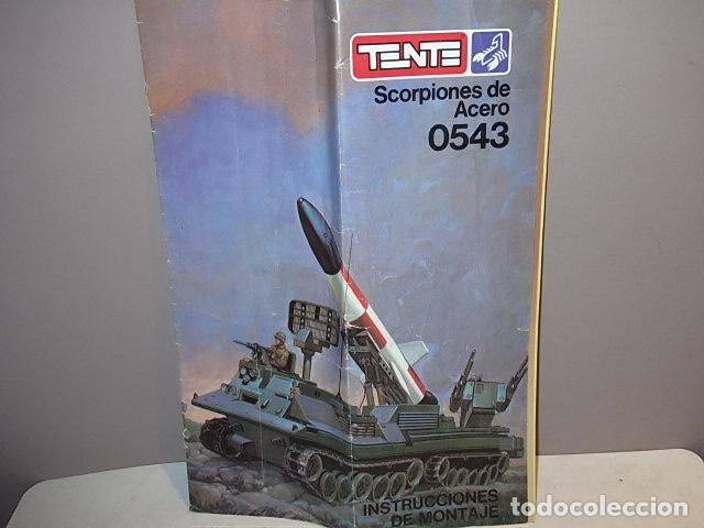 TENTE SCORPION 0543 - SCORPIONES DE ACERO - INSTRUCCIONES (Juguetes - Construcción - Tente)