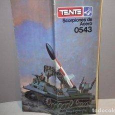 Juegos construcción - Tente: TENTE SCORPION 0543 - SCORPIONES DE ACERO - INSTRUCCIONES. Lote 80760354