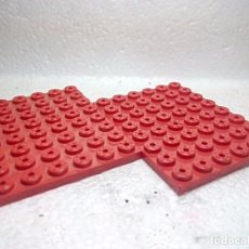 Juegos construcción - Tente: ROJO PLACA 8X6 - TENTE (2 UNIDADES). Lote 151889936