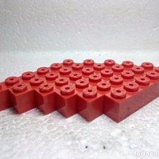 Juegos construcción - Tente: ROJO JACENA 6X1 - TENTE (6 UNIDADES). Lote 151890404