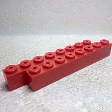 Juegos construcción - Tente: ROJO JACENA 8X1 - TENTE (2 UNIDADES). Lote 151890046