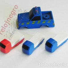 Juegos construcción - Tente: LOTE CAMIONES TENTE Y PARTE DE UN VEHÍCULO - AZUL AZULES CAMIÓN ROJO - JUGUETE CONSTRUCCIÓN AÑOS 80. Lote 89615552