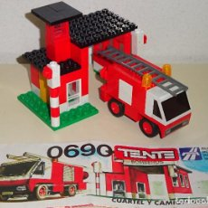 Juegos construcción - Tente: JUGUETE DE TENTE RUTA DE EXIN. REF 0690 CAMIÓN Y ESTACIÓN DE BOMBEROS. CON INSTRUCCIONES. 120 GR. Lote 95549643