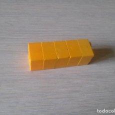 Juegos construcción - Tente: TENTE BLOQUE 2X2 LISA TOTAL AMARILLO X5 PIEZAS CJ4. Lote 133713821