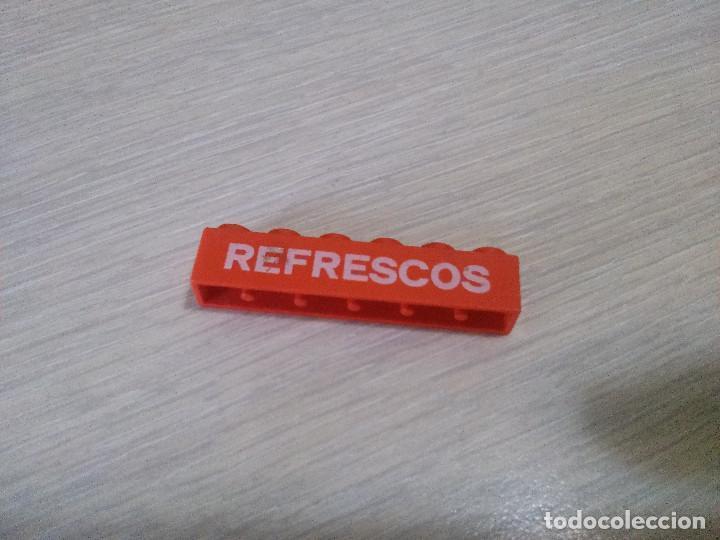 TENTE BLOQUE 1X6 SERIGRAFIA REFRESCOS ROJO (Juguetes - Construcción - Tente)