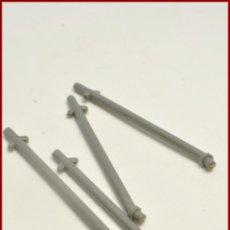 Juegos construcción - Tente: TENTE - MASTIL INCLINADO GRIS X4. Lote 98079607