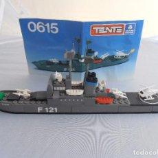 Juegos construcción - Tente: FRAGATA LANZAMISILES ICARO, TENTE REF. 0615 COMPLETO CON INSTRUCCIONES, EXIN. Lote 98610403