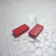 Juegos construcción - Tente: ROJO BALDOSA 2X1 - TENTE (2 UNIDADES). Lote 98715655