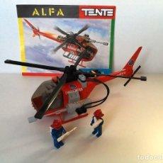 Juegos construcción - Tente: TENTE HELICOPTERO ALFA DE BOMBEROS. Lote 101344515