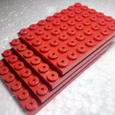 Juegos construcción - Tente: ROJO PLACA 8X6 - TENTE (4 UNIDADES). Lote 151890294