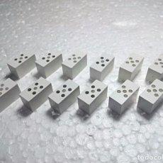 Juegos construcción - Tente: BLANCO BASE MASTIL - TENTE (12 UNIDADES). Lote 140740658