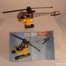 Juegos construcción - Tente: HELICOPTERO RESCATE, TENTE REF. 0500 FALTAN PIEZAS DE LA BASE, CON INSTRUCCIONES, EXIN. Lote 104903683