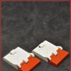Juegos construcción - Tente: TENTE - BISAGRA ESCOTILLA BLANCO ROJO X2. Lote 105143091