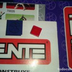Juegos construcción - Tente: TENTE ROJO TRANSPARENTE 1X1. Lote 105991303