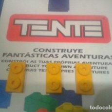 Juegos construcción - Tente: TENTE PLACA 1X2 AMARILLO X 3. Lote 106599263