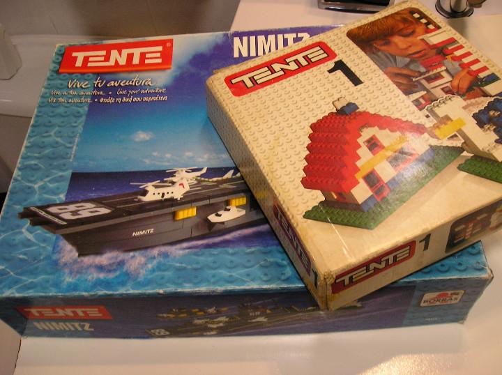 Juegos construcción - Tente: tente lote juegos tente tente uno y TENTE PORTAVIONES NIMITZ EXIN AÑOS 90 - Foto 2 - 245526215