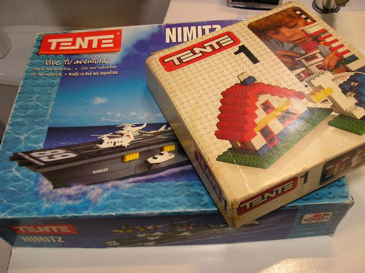 Juegos construcción - Tente: tente lote juegos tente tente uno y TENTE PORTAVIONES NIMITZ EXIN AÑOS 90 - Foto 3 - 245526215