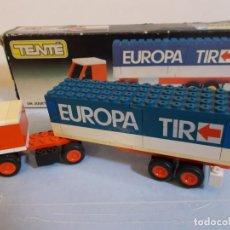 Juegos construcción - Tente: TENTE RUTA: TRAILER TRANSPORTE INTERNACIONAL EUROPA TIR EN CAJA REF 0683.CAMION BENELUX AÑOS 70.PTOY. Lote 107016811